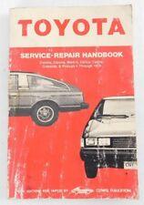 Clymer Toyota Corolla Corona Mark-II Celica Carina & Pickups Through 78 Handbook