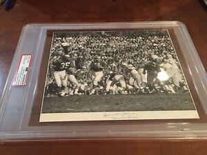 1960 NFL Championship Photo Signed Norm Van Brocklin PSA/DNA Press/Team