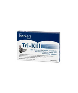 Harkers Tri-Kill Tablets for hexamitiasis canker coccidiosis Racing Pigeons