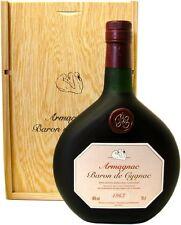 Rarität: Armagnac Baron de Cygnac 0,7l Jahrgang 1963 + Holzkiste