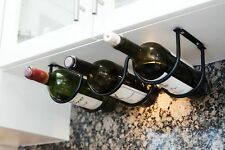 Heavy Duty 3 Bottle Under Cabinet Iron Wine Rack Liquor Bottle Holder Kitchen