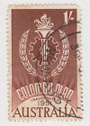 (W1488) 1961 AU 1/- brown Colombo plan (I)