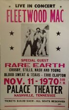 "Fleetwood Mac Concert Poster -  w/ Rare Earth CSNY Eric Clapton - 14""x22"""