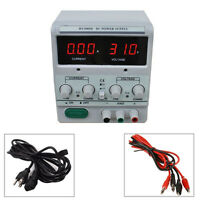 30V 5A 110V/220V Switch Variable Digital DC Power Supply Clip Cable Included