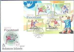 SOLOMON ISLANDS 2012 SPORTS FOOTBALL SOCCER SHEET OF FOUR STAMPS FDC