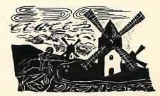 Don Quixote, Quijotte, Ex libris by A. Kurkin, Russia