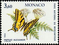"""MONACO N° 1424 """"PAPILLONS ET PLANTES DU MERCANTOUR, 3 F 60""""NEUF xxTTB"""