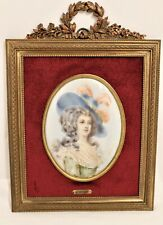 Attractive Framed Miniature Portrait of Georgian Lady in Oils - Thames Hospice