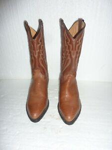 Mens 8.5 EE Cowboy Boots Brown  00757