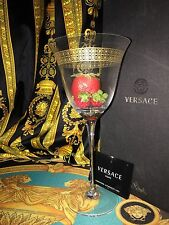 VERSACE GOLD WINE GLASS Marco Polo Rosenthal New in box VALENTINES GIFT SALE