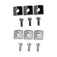 6 Pcs Electric Guitar Locking Nut Clamp&Screws for Guitar Parts Accessories