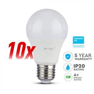 10 x LED Glühbirne/Leuchtmittel V-TAC E27 A 60 9 Watt 3000 K