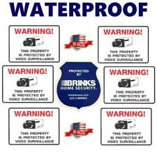 WATERPROOF STICKERS FOR HOME SECURITY ALARM CAMERA+BRINKS WINDOW WARNING DECAL