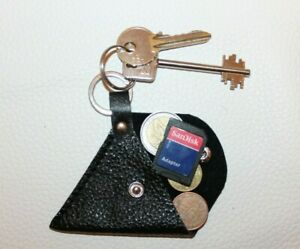Portachiavi pelle, Porta monete pelle,Portachiavi cuoio artigianale italiano(x1)