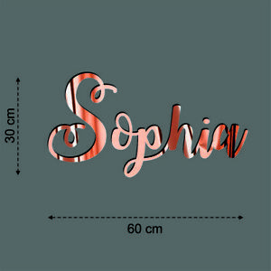 Name Personalisation Wall Art Sticker Quote Wedding Rose Gold Phrases Decals