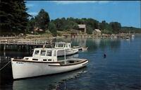 York ME River Scene & Boats Postcard