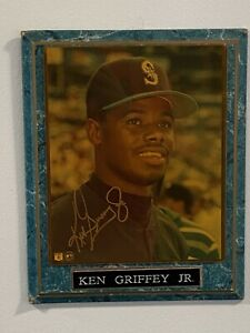 Ken Griffey Jr. Autograph Plaque Seattle Mariners MLB licensed