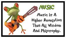 Fridge Magnet: FROG LOGIC - MUSIC (Funny Motivational Quote)