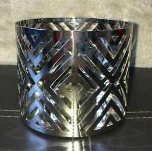 Bath & Body Works Slatkin & Co. Chevron 3-Wick 14.5 oz Candle Holder Sleeve