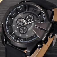 Luxury Men's Watch Stainless Steel Quartz Analog Boys Military Sport Wrist Watch