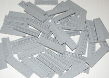 Lego Lot of 50 New Light Bluish Gray Plates Modified 2 x 8 with Door Rail