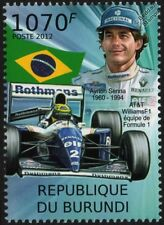 Ayrton Senna & Williams Renault Formula 1 (F1) GP Race / Racing Car Stamp