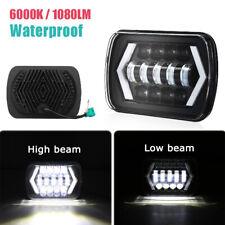 45W 5X7'' Square LED Projector Headlight Lamp 7 Inch Beam Light Waterproof Shell