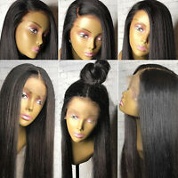 Women's Ladies Brazilian Full Hair Lace Front Wig Long Straight Baby Hair Wigs