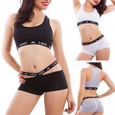 Completo donna intimo lingerie sport culotte top vogatore fitness nuovo 5210