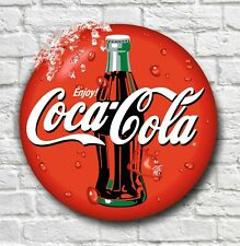 LARGE 2FT COCA COLA LOGO SIGN RETRO PICTURE BAR PUB CAFE USA CATERING DRINK LOGO