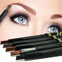 Semi Retractable Lasting Eyebrow Eye Brow Chalk Pen Pencil Black Brown Make Up