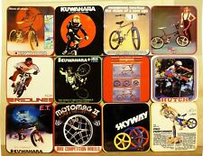 COASTER SET OF 12 - OLD SCHOOL BMX - HUTCH  REDLINE SKYWAY MOTOMAG GT KUWAHARA