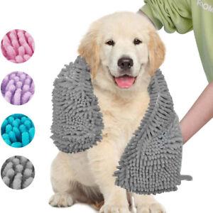 Large Pet Microfiber Towel Cat Dog Cleaning Drying Bath Towel Super Absorbent.
