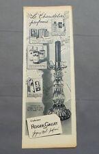 PUB PUBLICITE ANCIENNE ADVERT CLIPPING 220517/ CHANDELIER PARFUME ROGER & CALLET