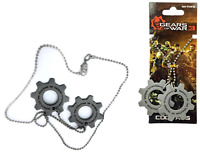 GEARS OF WAR 3 REPLICA COG TAGS Metal Necklace NECA 2013 NEW