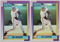 1990 TOPPS BASEBALL Bo Jackson 2x Card Lot NM #300 Royals White Sox Raiders Nike