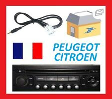 Cable AUX MP3 Auxiliaire Jack 3.5mm Citroën RD4 RT4 DS3 C3 C4 C5 Picasso C6 C8