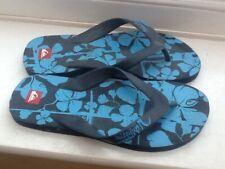 Mens QUIKSILVER Blue Patterned Surfers Flip Flop Sandals - UK Size 7