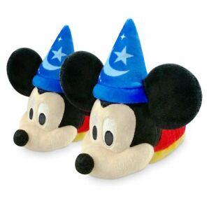 Disney Store Sorcerer Mickey Soft Slippers Kids Size 5/6 7/8 9/10 11/12 13/1 NWT