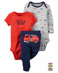 Carter's 3-piece Turn Me Around Set Fire Truck 3mos Authentic & Brand New