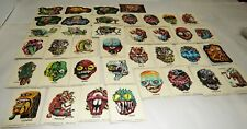 VINTAGE 1960'S TOPPS UGLY MONSTER STICKER TRADING CARDS SET OF 36