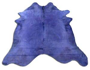 Dyed Purple Cowhide Rugs HUGE Size: ~8 X 7 ft Dyed Purple Cowhide Rugs