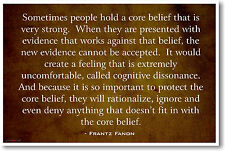 Cognitive Dissonance - Frantz Fanon - NEW Social Sciences Person POSTER