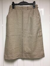 CACHAREL Vintage Ladies Herringbone Check Skirt Knee Length Size 40