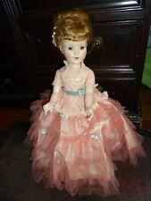 17 inch American Character Sweet Sue Walker Orig Pink Lace Gown,hoop slip,shoes