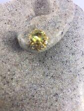 925 Sterling Silver Stud Earrings Vintage Geniune Lemon Quartz Gemstone