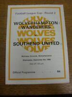 04/09/1968 Wolverhampton Wanderers v Southend United [Football League Cup] (fold