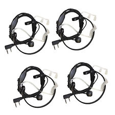 4-Pack Acoustic Tube Earpiece Throat Mic Headset for Baofeng BF-888 /S BF-999 /S