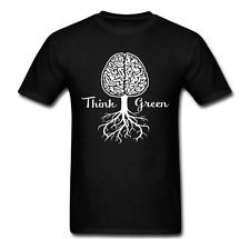 Think Green Earth Recycle Brain Stems Roots Trees Plants Recycle Tee t shirt