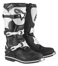 Alpinestar tech 1 noir blanc taille 10/44.5 - crossstiefel-Boots-white black